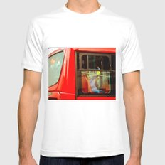 TRANSPORT OF BOGOTA COLOMBIA (TransMilenio). Mens Fitted Tee MEDIUM White