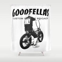 Goodfellas Custom Bicycle Brigade - XXX Logo Shower Curtain