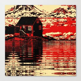House on the Fjord Canvas Print