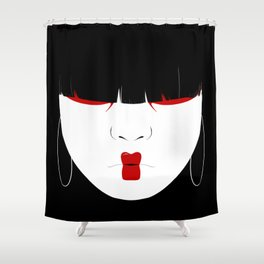 Modern Geisha #2 Shower Curtain