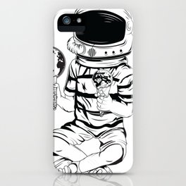 Astronaut With Two Ice Creams iPhone Case