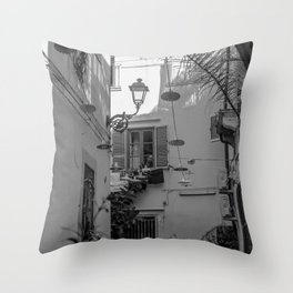 Inner courtyard, Ortigia, Syracuse, Sicily, Throw Pillow