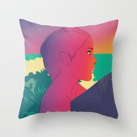 surfer Throw Pillows featuring Surfer by martiszu
