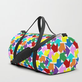 Anywhere You Want To Go - White Duffle Bag