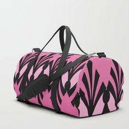 Art Deco Passionate Rose Pink Pattern Duffle Bag