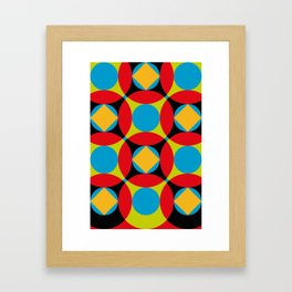 Very colorful circles, squares, intersections, geometrical fantasy. Framed Art Print