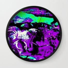 Farben-Abstrakt 3 Wall Clock