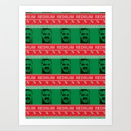 All work and no play Ugly Christmas Sweater Art Print