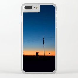 Outback sunset Clear iPhone Case
