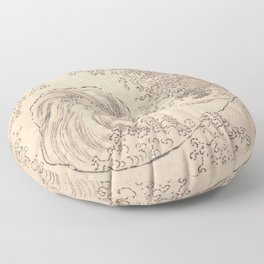 Wave by Katsushika Hokusai 1760–1849, Japanese Floor Pillow