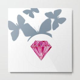 Butterfly with gem from the palace Metal Print
