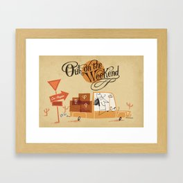 Out on the Weekend Framed Art Print