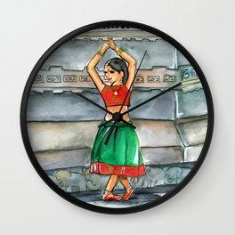 Shanti Girl Watercolor Wall Clock