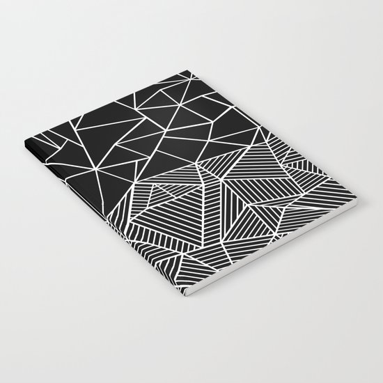 Ab Half and Half Black Notebook