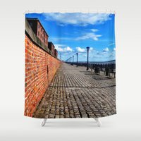 liverpool Shower Curtains featuring Liverpool, Albert Dock by EmL-T