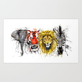 Animal Magic Art Print