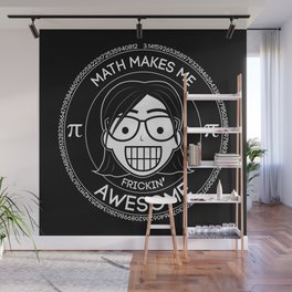 Frickin Awesome - Math Girl Wall Mural