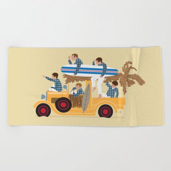 Surfin Safari Beach Towel