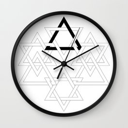 Interlocks Wall Clock