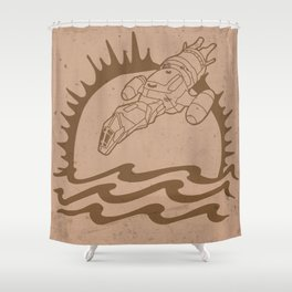 The Pirate's Brand Shower Curtain