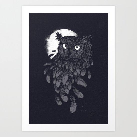 Vanishing in the night II Art Print