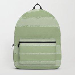 Geometric modern gradient neo mint tones stripes  Backpack