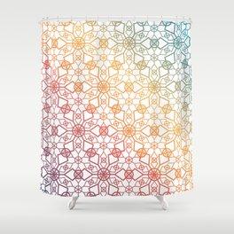 Rainbow Star Trellis Shower Curtain