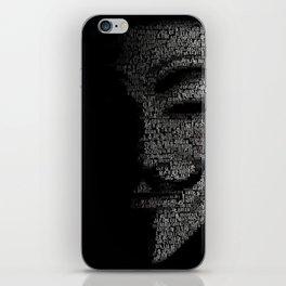 V per Vendetta Guy Fawkes iPhone Skin