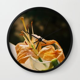 Crumpled lily Wall Clock