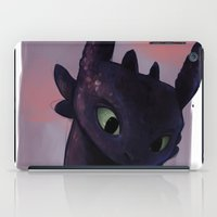 toothless iPad Cases featuring Toothless by tsunami-sand