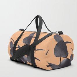 Eucalyptus Leaves Black Orange #1 #foliage #decor #art #society6 Duffle Bag