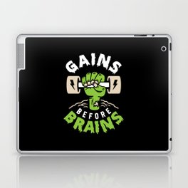 Gains Before Brains Laptop & iPad Skin