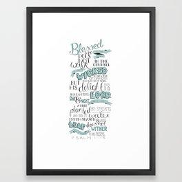 Psalm 1:1-3 Framed Art Print