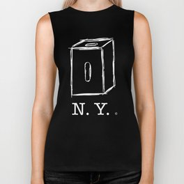 New York apple box (white) Biker Tank
