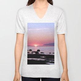 Coastal sunset Unisex V-Neck