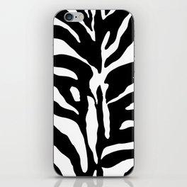 Black and white Zebra Stripes Design iPhone Skin