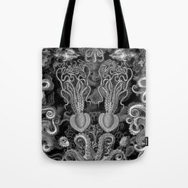 The Kraken (Black & White - NoText, Alt.) Tote Bag