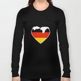 I Heart German Bier Germany Oktoberfest Vintage Long Sleeve T-shirt