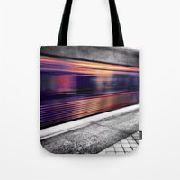 subway Tote Bags featuring Subway by Yancey Wells