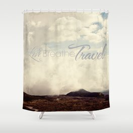Live Breathe Travel - Mt Etna, Italy Shower Curtain