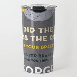 Vintage Car Garage Poster Travel Mug