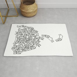 Pile of Rabbits Rug