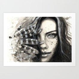 Freckly Art Print