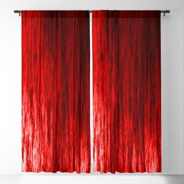 Bright texture of shiny foil of red flowing waves on a dark fabric. Blackout Curtain
