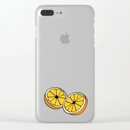 Mi Media Naranja Clear iPhone Case
