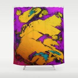Yellow erosion Shower Curtain