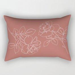 Pink roses illustration - Delia Rectangular Pillow