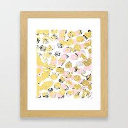Stellan - Rose Marble Gold abstract art painting modern minimal love rosequartz pastel pink dorm Framed Art Print