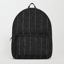 Charcoal Grey Pinstripe Backpack
