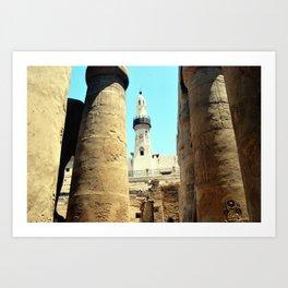 The Mosque of Abu Haggag, Luxor, Egypt Art Print